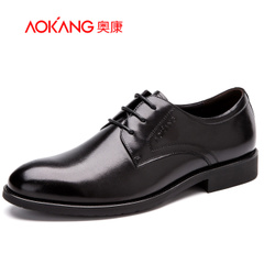 Aokang shoes spring 2016 new men's business dress shoes real leather men and pigskin insole comfort shock absorber
