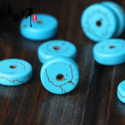 Optimization of Moon and stars Bodhi accessories turquoise disc beads blue turquoise disc beads DIY bead spacer bead insulation powder dingzhu matching beads
