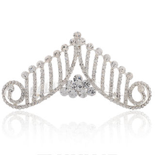 Good jewelry 2015 new Korean bridal tiara jewelry Crown rhinestone hair accessories Bridal Accessories