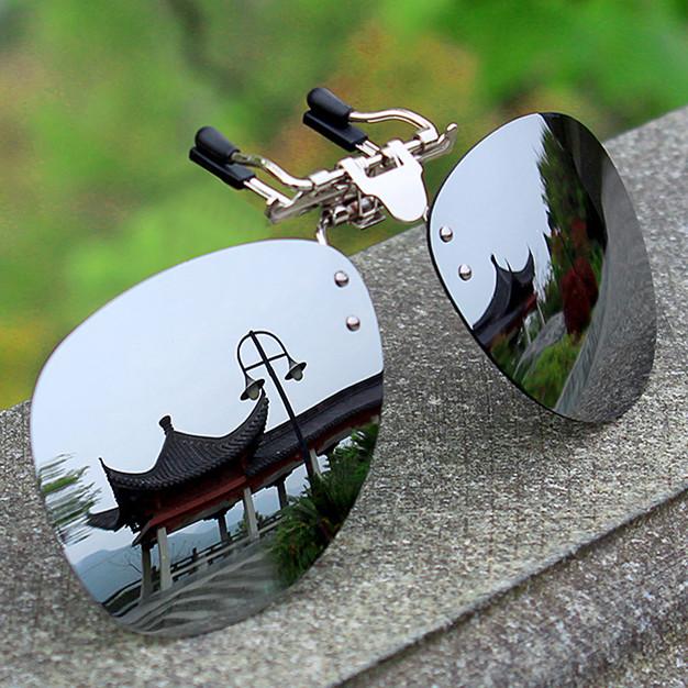太阳镜偏光墨镜夹片开车钓鱼司机镜夜视镜男女近视眼镜夹片蛤蟆镜