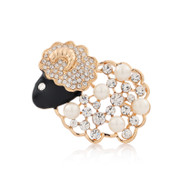 Ms love posting cute Chinese zodiac sheep brooch corsage born Korean accessories