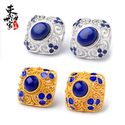 Tokai family 5A King lapis lazuli earrings 925 silver plated cloisonne enamel inlay fashion jewelry women