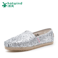 Hot sequin fisherman shoes flat shoes women's summer shoes canvas shoes women surge pedal lazy people 67H5113