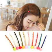 Know Connie hair accessory jewelry simple Joker macarons balls small hair bangs clip hairpin clip
