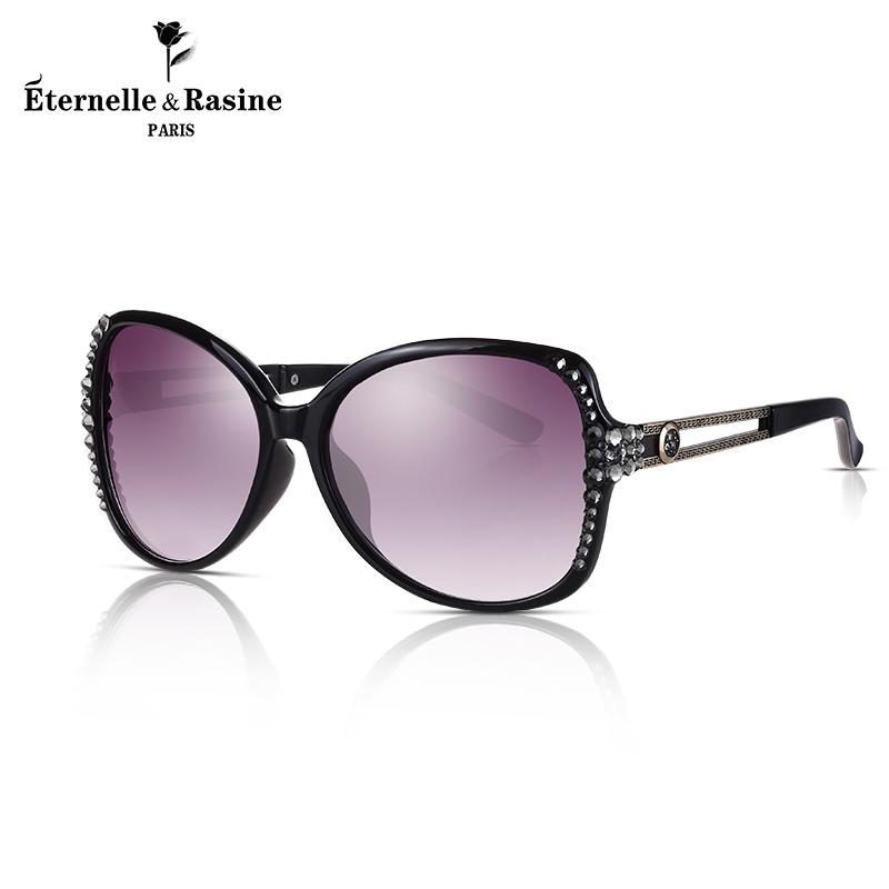 法国Eternelle采用施华洛世奇元素水晶墨镜 女时尚眼镜新款太阳镜