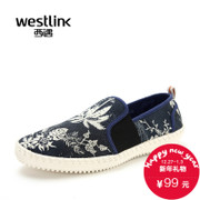 Westlink West printing 2015 spring new Korean casual shoes men's shoes a pedal lazy sneakers men
