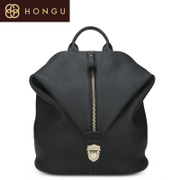 Honggu 2015 Shoppe red Valley Ms genuine new European fashion leather shoulder backpack 6968