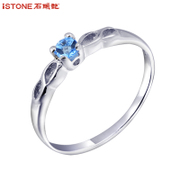 Synthesis of Crystal stones ring 925 Silver ring woman Valentines