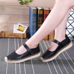 Microphone clicking low casual shoes at the end of the 2015 winter quarter lazy fisherman shoes flat feet shoes leather shoes