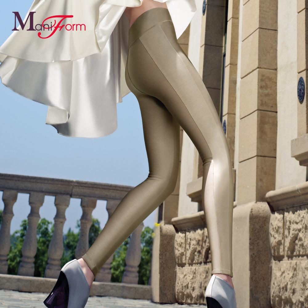 曼妮芬女士保暖内衣 可外穿无痕修身美体中腰女士保暖裤 秋裤