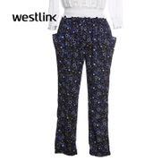 Westlink/Western star print loose women's casual pants