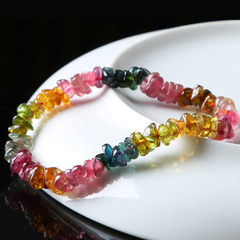 Precious Crystal natural Brazil gaudy tourmaline stone bracelet ladies clear customer benefits