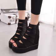 Ting Qi, 2015 summer styles hollowing end of platform high boots platform with increased fish Sandals Women's shoes