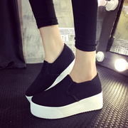 2015 spring lazy one pedal shoe cake thick-soled canvas shoes women's shoes a breathable Le Fu, student shoes shoes