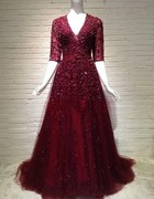 Zuhair Murad wedding dress toast bride red wedding dress evening dress