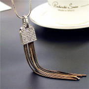 Love necklace Korea fashion fringe women long necklace Joker retro accessories for fall/winter ornaments package mail