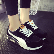 In spring and autumn the new cushioned shoes female Korean School of thick-soled running shoes sports shoes black and white shoes fashion