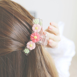Know Richie Daisy flower banana clip twist clip card issuers to catch clips hair clip ponytail holder headdress caught Korean jewelry