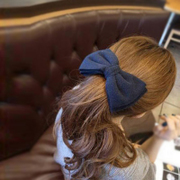 Cool na Korean hair accessories Korean wool woolen cloth large Butterfly first clip clip Clip comb 6189