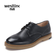 Westlink/West spring 2016 fashion new men's leather head strap UK casual shoes