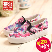 Le Fu, Becky, thick-soled shoes lazy shoes platform shoes low cut canvas shoes casual shoes with breathable fall 2015 new
