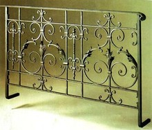 欧款铁艺楼梯扶手 飘zk7护栏 防qc楼护栏 走廊栏杆 阳台围栏