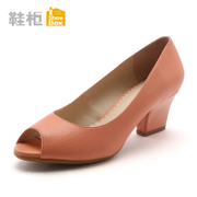 Shoebox shoe 2016 Korean spring and autumn fish mouth high heels shoes chunky heels and leisure shoes 1115202210