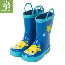 韩国kk树2016儿童雨鞋男童女童雨鞋橡胶防滑小孩雨靴中筒宝宝水鞋