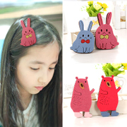 Know Richie Korean cartoon bear children make bangs clip accessories hairpin girls hair accessories rabbits clip