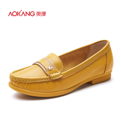 Aokang shoes spring 2016 new shallow flat comfort shoes shoes authentic solid entertainment package mail