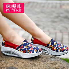MI Ka fall 2015 Korean canvas shake female thick-soled platform shoes feet lazy shoes shoes shoes