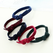 Know Connie hair Candy-colored hair jewelry hair bands rope band Korean high elasticity Butterfly first rope