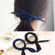 Know Connie hair accessories Korean hand-woven braided hair band suede Butterfly first rope fashion jewelry