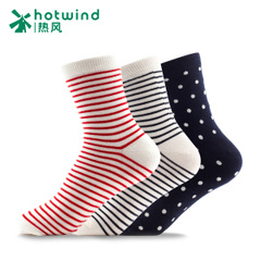 Hot Lady high stockings spring-fall/winter new style cotton stripe Hi-socks combination socks 83H02404
