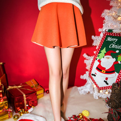 QUEENZZ Europe and the socialite winds warm autumn/winter 2014 new thickened material Joker skirts shed #
