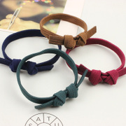 Cool na Korean hair accessories rope hair ornaments made by the first rubber band elastic bow string 6546