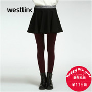 Westlink/West New 2015 winter tide simple anti-wardrobe malfunction in the female bust little black dress skirt Tutu