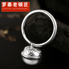 Chandos and old silversmiths s990 pure silver ring has contracted Japanese and Korean female ring a small bell ring finger silver ring gift
