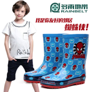 RAINBELT rain-belt Spider-man children's cartoon boots mobile Korean flower rain boots waterproof shoes boots
