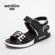 Westlink/West meets the alphabet printed cushion and soles for ladies sandals