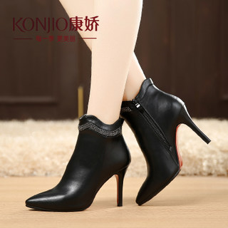 Kang Jiao new fall shoes for fall/winter boot boots pointed stilettos and bare solid British style Western fashion boots