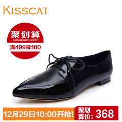 KISS KISS CAT cats pointed lace low shoes autumn 2015 new leather women shoes