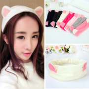 Know Richie cat ears headband face card issuers apply mask headband fringe hair lovely makeup hair towel accessories