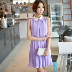 Dresses and skirts in summer pink doll 2015 summer styles dresses sleeveless dresses with a slim