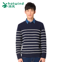 Hot air men's spring and fall/winter new striped sweaters men crewneck sweatshirts hedging of self 08W5904