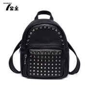 Backpack Princess rivet women's chest bags Korean wind tide small backpack 2016 new fashion handbags College bags