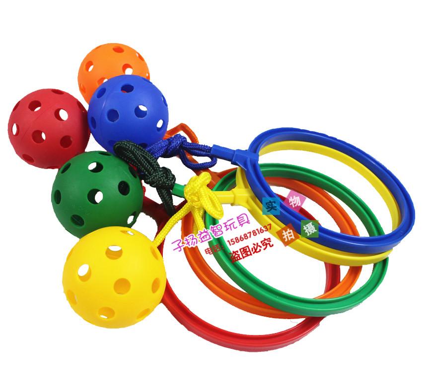 幼儿园感统健身运动柠檬 跳跳球 卡乐咪脚环球儿童趣味球类玩具