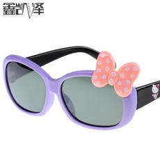 探险者儿童偏光太阳镜 超酷儿童墨镜 时尚蝴蝶结款 男童女童眼镜