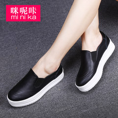 Microphone Ta-fall 2015 thick-soled platform shoes women shoes round feet lazy Lok Fu shoes leisure shoes women