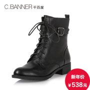 C.BANNER/handsome Martin banner 2015 winter cowhide boot straps boot A5518706